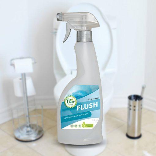 BIOFORCE FLUSH, vegyszer- klór- hypomentes környezetbarát WC-tisztító, ápolószer